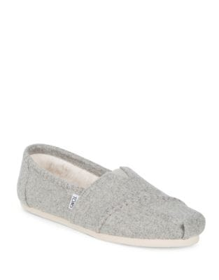 Wool Alpargata Slip On Flats by TOMS