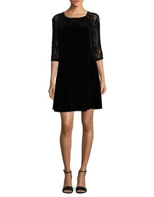 Floral Lace Sleeve Shift Dress by Gabby Skye