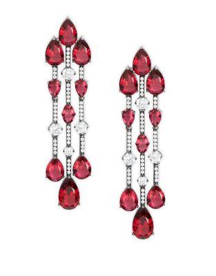 Faceted Crystal Chandelier Earrings 500087729199