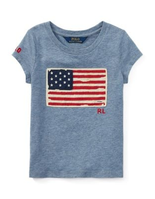 Girls Flag Cotton Jersey Tee