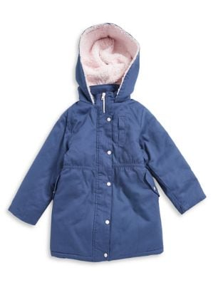 Little Girls Faux FurLined Cotton Jacket