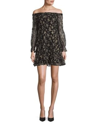 Off-the-Shoulder Star Mini Dress by Sam Edelman