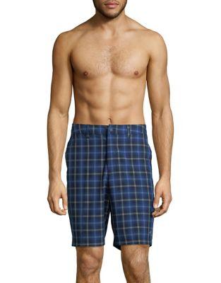 Plaid Swim Shorts @...