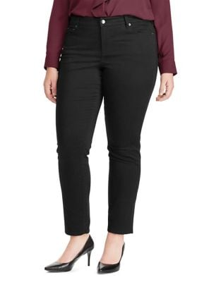 Plus Straight Sateen High-Rise Jeans 500087734080