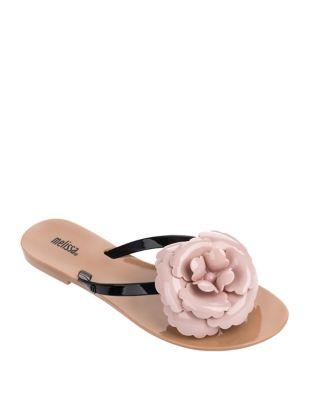 Harmonic Flower Flip Flop Sandals by Melissa