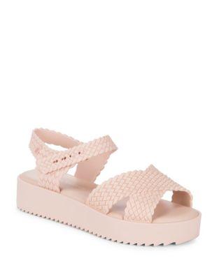 Hotness Woven Platform Sandals by Melissa