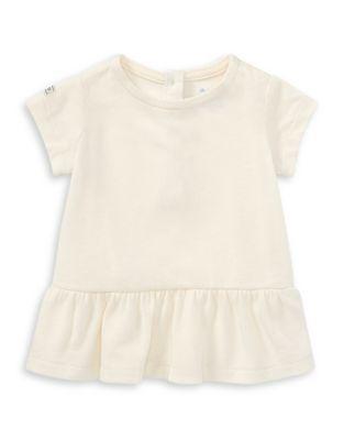 Baby Girls Cotton Jersey Peplum Top