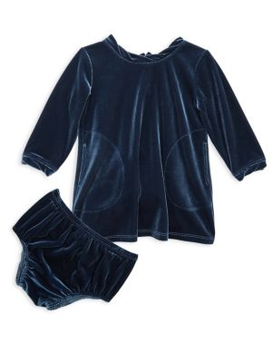 Baby's Two-Piece Velour Bloomers & Dress Set 500087735930