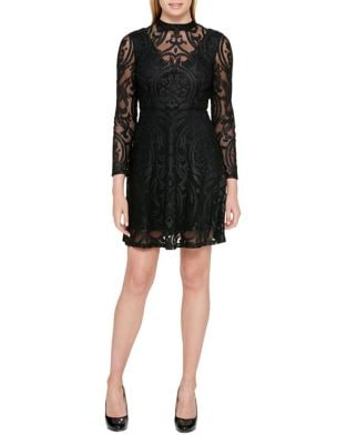 Velvet Little Black Dress by Guess