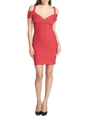 Cold Shoulder Bandage Dress by Guess