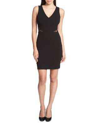 Sleeveless Velvet Sheath Dress by Guess