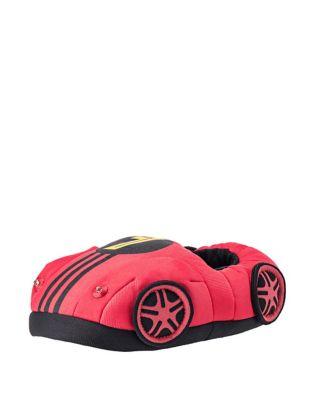 Boy's Light-Up Race Car Plush Slippers 500087739895