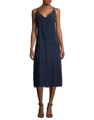 V-Neck Tie Midi Dress by BB Dakota