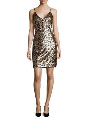 Sequin Leopard Mini Dress by BB Dakota