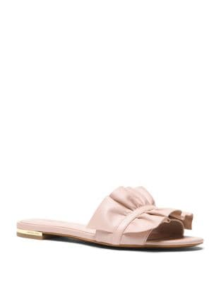 Bella Leather Slides by MICHAEL MICHAEL KORS