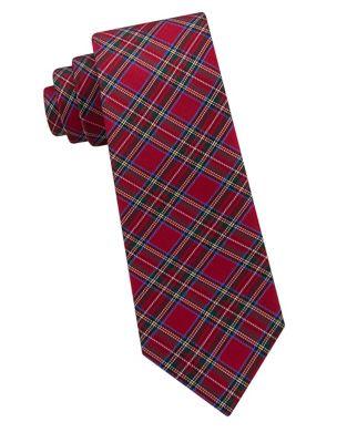 Boys Todd Tartan Silk Tie