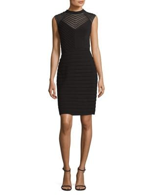 Sleeveless Mesh Dress by Adrianna Papell