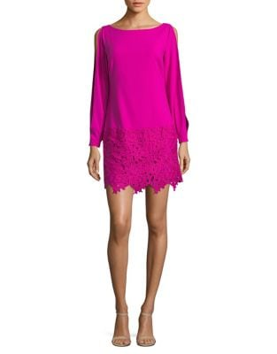 Venise Lace Hem Shift Dress by Laundry by Shelli Segal