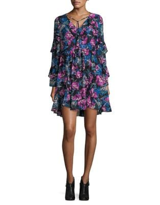 Floral Ruffled Dress by BB Dakota