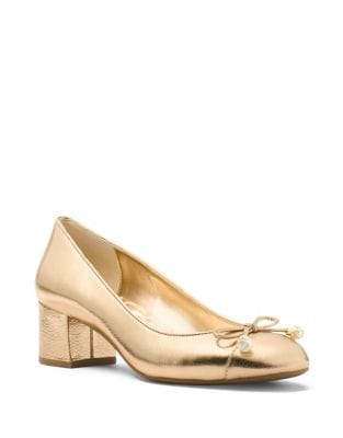 Gia Metallic Leather Pumps by MICHAEL MICHAEL KORS
