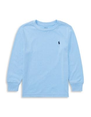 Little Boys Long Sleeve Cotton Tee