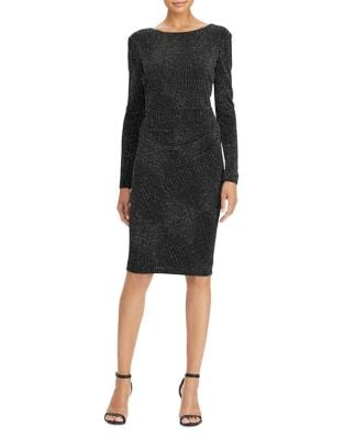 Metallic Jacquard Sheath Dress by Lauren Ralph Lauren