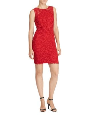 Scalloped Lace Sheath Dress by Lauren Ralph Lauren