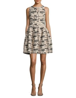 Glitter Fit-&-Flare Dress by Vince Camuto
