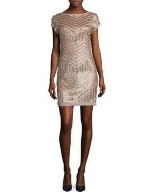 Sequin Cap Sleeve Sheath Dress by Vince Camuto