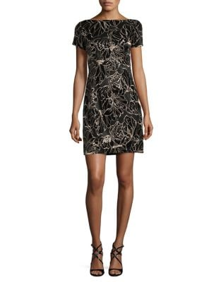 Sequin Embellished Sheath Dress by Tahari Arthur S. Levine