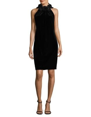Embellished Halterneck Sheath Dress by Tahari Arthur S. Levine