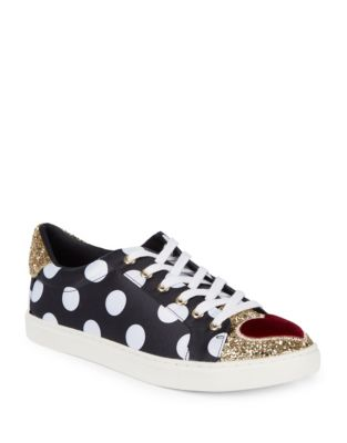 Glitter Low Top Sneakers by Betsey Johnson
