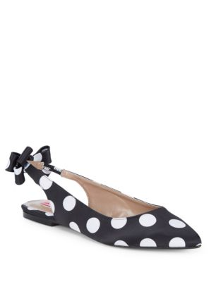 Ann Polka Dot Textile Flats by Betsey Johnson