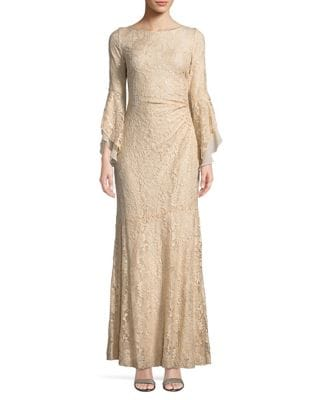 Sequined Lace Gown by Lauren Ralph Lauren