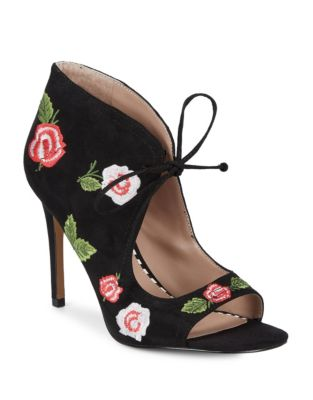 Caroline Embroidered Peep Toe Shooties by Betsey Johnson
