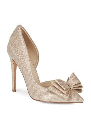 Metallic Textile D'Orsay Pumps by Betsey Johnson
