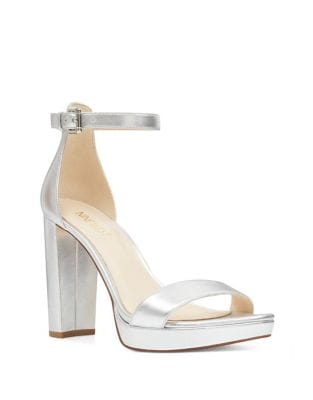 Dempsey Metallic Platform Sandals by Nine West