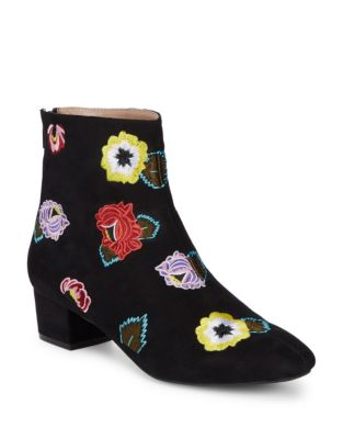 Floral Textile Booties by Betsey Johnson