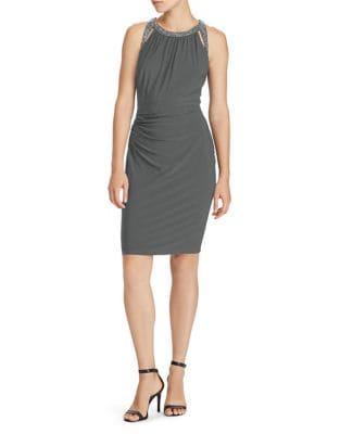Beaded Sheath Dress by Lauren Ralph Lauren