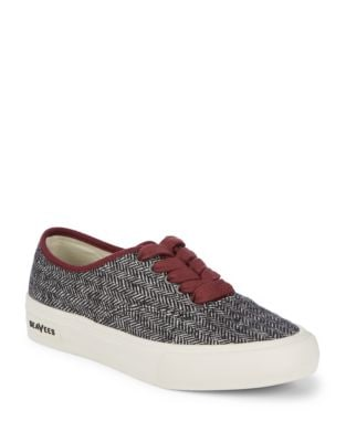 Legend Herringbone Low-Top Sneakers by Seavees