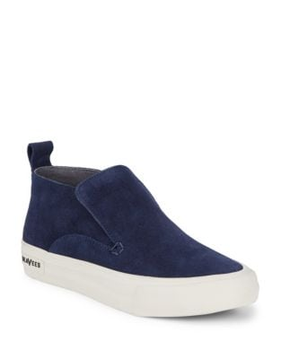 Round Toe Suede Sneakers by Seavees
