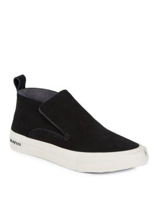 Huntington Suede Slip-On Sneakers by Seavees