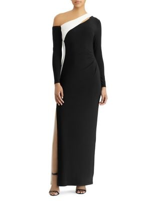 Color-Block Jersey Gown by Lauren Ralph Lauren