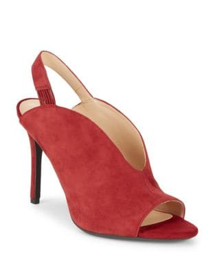 Moore Suede Stiletto Slingbacks by Nine West