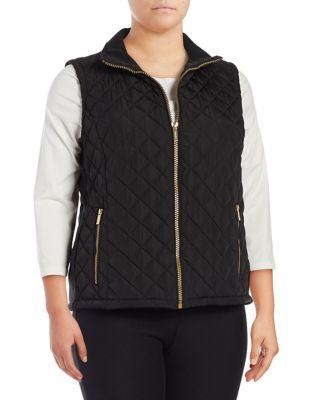 Plus Plus Quilted Zip-Front...