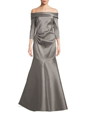 Off-the-Shoulder Floor-Length Gown by Theia