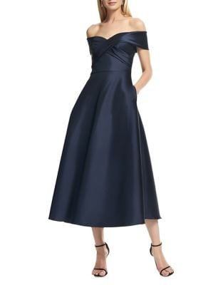 Off-The-Shoulder Midi Dress by Theia