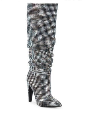 Crushing Embellished Knee-High Boots by Steve Madden