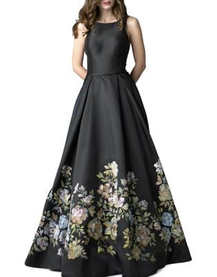 Floral-Print Gown by Basix