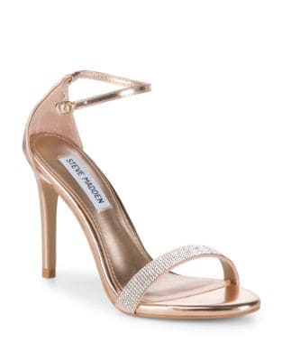 2560529aa982 STEVE MADDEN Stecys Metallic Leather Sandals